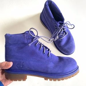 Boys Royal Blue Timberland Waterproof Boots Size 2